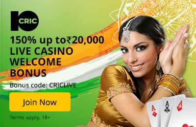 10Cric Live Casino Welcome Offer