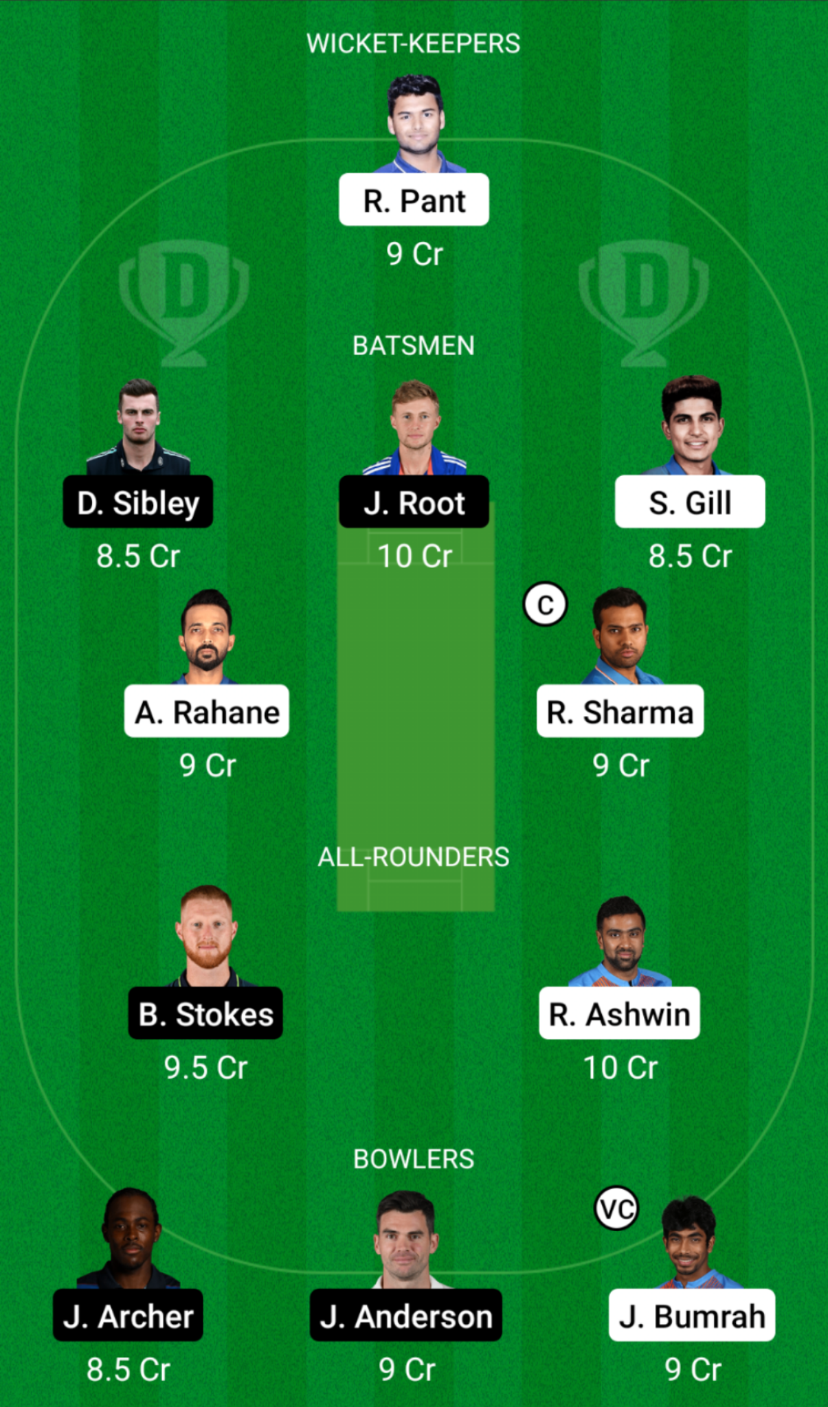 India vs England Dream11 Team Prediction