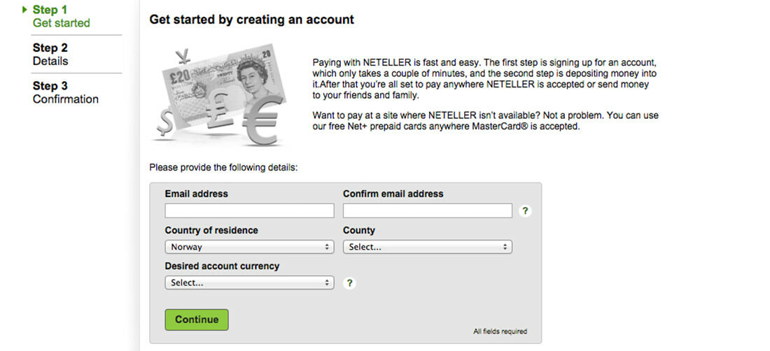 neteller signup form