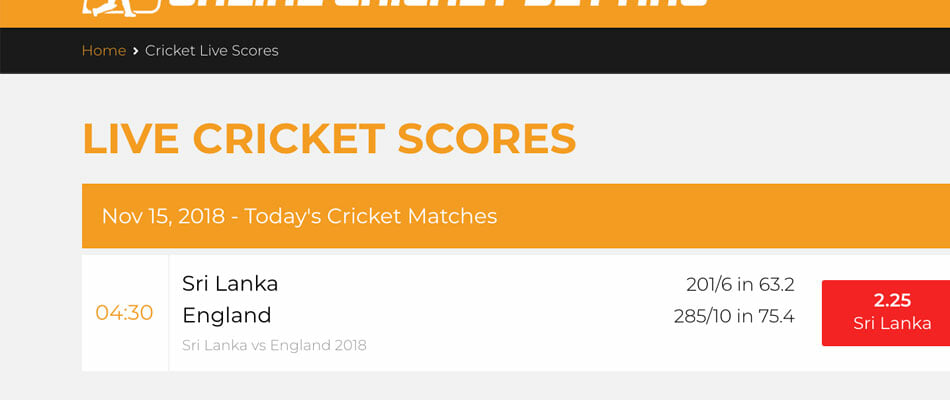 OnlineCricketBetting.net Cricket Live Scores