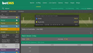 Bet365 Live Cricket Betting