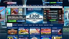 betfred casino section screenshot