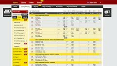 dafabet betting odds screenshot