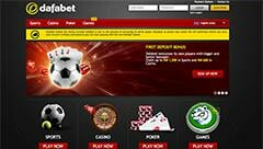 dafabet homepage screenshot
